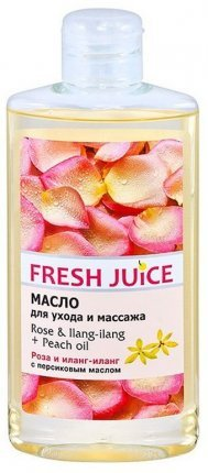 Масло для ухода и массажа Rose&Ilang-Ilang+Peach Fresh Juice, 150 мл