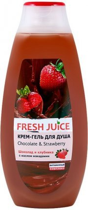 "Крем-гель для душа ""Chocolate & Strawberry"" Fresh Juice, 400 мл"